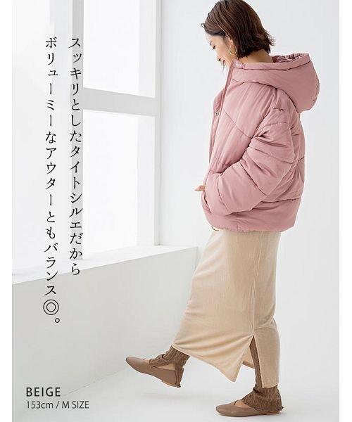 GROWINGRICH(グローウィングリッチ)/[ボトムス スカート]ベロアコーデュロイタイトスカート[190690]しっとりキレイな冬スカート/190690_img06