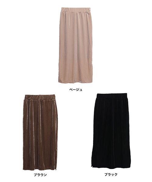 GROWINGRICH(グローウィングリッチ)/[ボトムス スカート]ベロアコーデュロイタイトスカート[190690]しっとりキレイな冬スカート/190690_img08