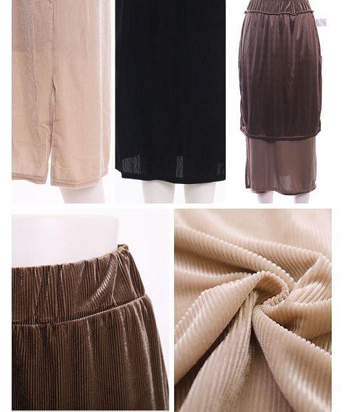GROWINGRICH(グローウィングリッチ)/[ボトムス スカート]ベロアコーデュロイタイトスカート[190690]しっとりキレイな冬スカート/190690_img09