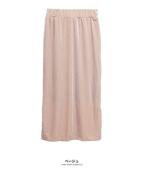 GROWINGRICH(グローウィングリッチ)/[ボトムス スカート]ベロアコーデュロイタイトスカート[190690]しっとりキレイな冬スカート/190690_img17