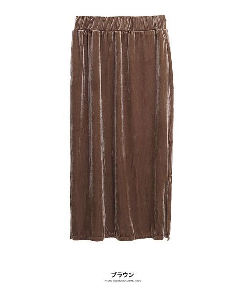 GROWINGRICH(グローウィングリッチ)/[ボトムス スカート]ベロアコーデュロイタイトスカート[190690]しっとりキレイな冬スカート/190690_img18