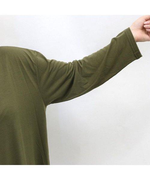 non-hedge(ノンヘッジ)/ロゴ刺繍Tシャツワンピース/Tシャツロングワンピース/ロンT/ロング丈/ゆるワンピ/楽ちん/リラックス/秋冬/AW/定番/ベーシック/シンプル/無地/体型カバー/9174057B-6_img11