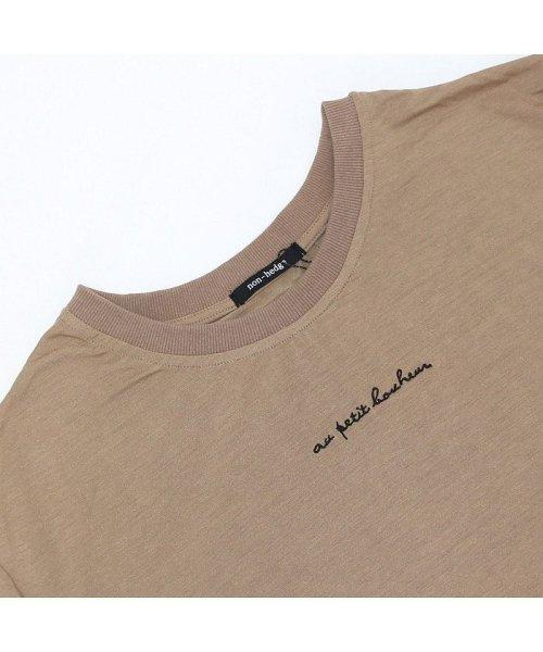 non-hedge(ノンヘッジ)/ロゴ刺繍Tシャツワンピース/Tシャツロングワンピース/ロンT/ロング丈/ゆるワンピ/楽ちん/リラックス/秋冬/AW/定番/ベーシック/シンプル/無地/体型カバー/9174057B-6_img18