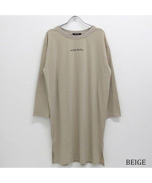 non-hedge(ノンヘッジ)/ロゴ刺繍Tシャツワンピース/Tシャツロングワンピース/ロンT/ロング丈/ゆるワンピ/楽ちん/リラックス/秋冬/AW/定番/ベーシック/シンプル/無地/体型カバー/9174057B-6_img28