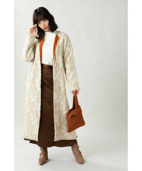 ROSE BUD(ローズバッド)/Wool Jacquard Coat/6019220029_img01