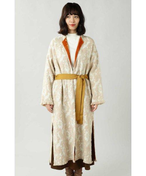 ROSE BUD(ローズバッド)/Wool Jacquard Coat/6019220029_img03