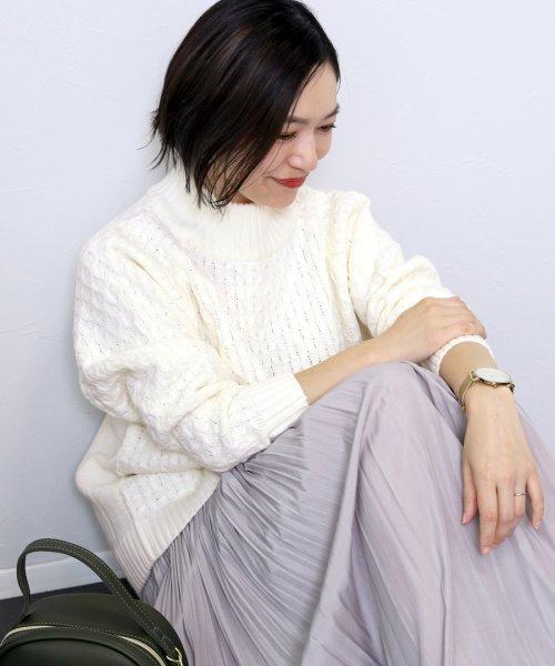 FUNNY COMPANY+(ファニーカンパニー)/ハニカム×裏目天竺ハイネックプルオーバー/jjtn-07be-bs-814_img01