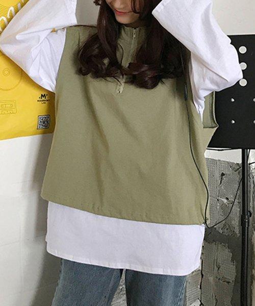 miniministore(ミニミニストア)/tシャツ ベスト 2点セット トップス レディース ゆったり 重ね着セット tシャツ 長袖/11DKZA-001_img07