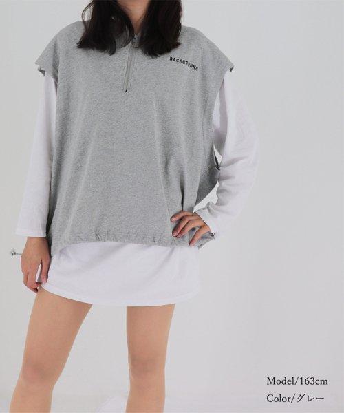miniministore(ミニミニストア)/tシャツ ベスト 2点セット トップス レディース ゆったり 重ね着セット tシャツ 長袖/11DKZA-001_img12