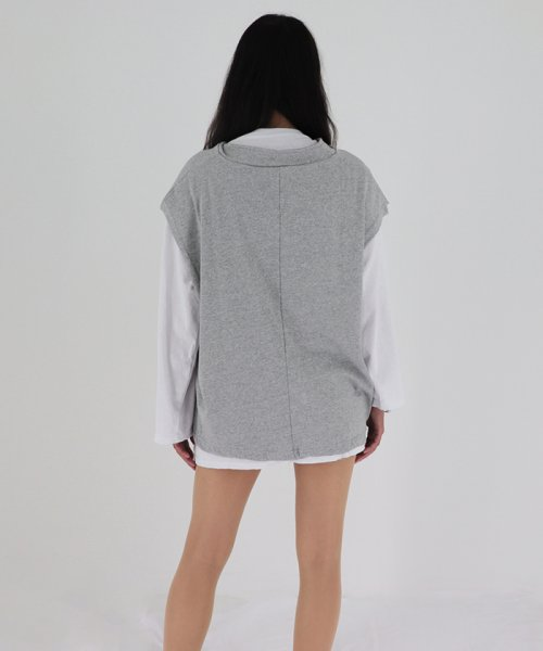 miniministore(ミニミニストア)/tシャツ ベスト 2点セット トップス レディース ゆったり 重ね着セット tシャツ 長袖/11DKZA-001_img14