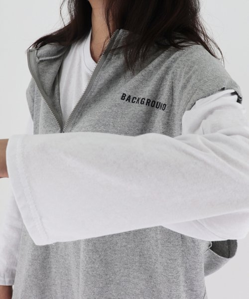 miniministore(ミニミニストア)/tシャツ ベスト 2点セット トップス レディース ゆったり 重ね着セット tシャツ 長袖/11DKZA-001_img16