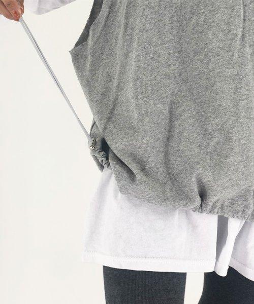 miniministore(ミニミニストア)/tシャツ ベスト 2点セット トップス レディース ゆったり 重ね着セット tシャツ 長袖/11DKZA-001_img18