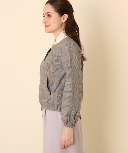 Couture Brooch(クチュールブローチ)/【WEB限定プライス/WEB限定サイズ(LL)あり/手洗い可】チェック×無地 リバーシブルブルゾン/20190250847009_img02