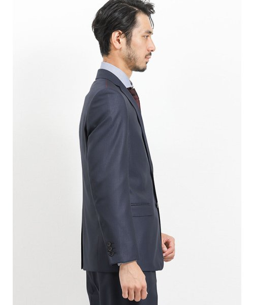 TAKA-Q(タカキュー)/光沢スリムフィット2ピーススーツ 片柄ストライプ紺/110010953403923_img05