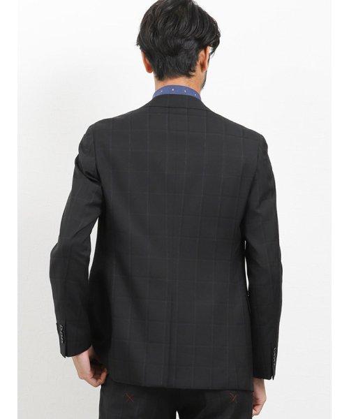 TAKA-Q(タカキュー)/マルゾット/MARZOTTO ウール スリムフィット3ピーススーツ シャドーチェック黒/110013343210923_img04