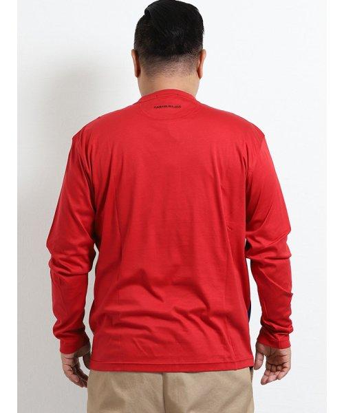 GRAND-BACK(グランバック)/【大きいサイズ】カステルバジャック/CASTELBAJAC スイスコットン ニット切替クルーネック長袖Tシャツ/110204863520923_img03