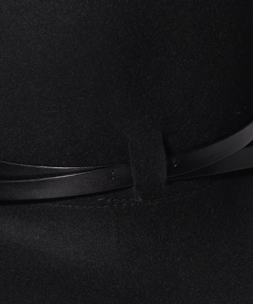 SISLEY(シスレー(レディス))/ウールフェイクレザーリボンハット・帽子/19A6GCVW41A5_img06