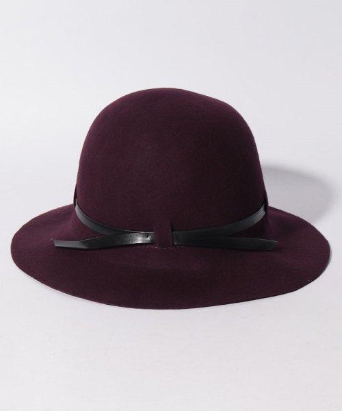 SISLEY(シスレー(レディス))/ウールフェイクレザーリボンハット・帽子/19A6GCVW41A5_img11