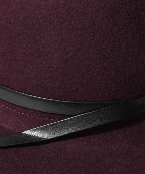 SISLEY(シスレー(レディス))/ウールフェイクレザーリボンハット・帽子/19A6GCVW41A5_img13