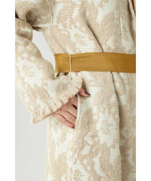 ROSE BUD(ローズバッド)/Wool Jacquard Coat/6019220029_img08