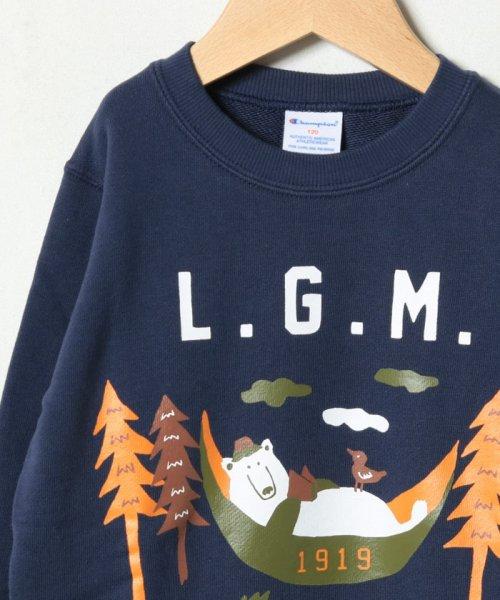 LAGOM(ラーゴム)/【Champion別注】クマプリントトレーナー/1208074881411_img02
