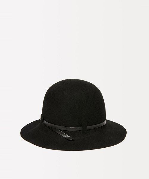 SISLEY(シスレー(レディス))/ウールフェイクレザーリボンハット・帽子/19A6GCVW41A5_img01