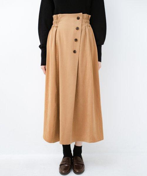 haco!(ハコ)/楽ちんなのにきれい見せが叶う ボタンがポイントの大人スカート/482274_img04