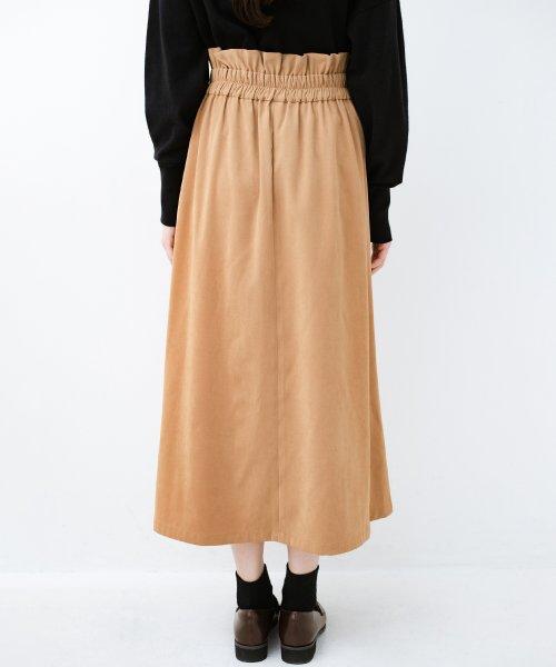 haco!(ハコ)/楽ちんなのにきれい見せが叶う ボタンがポイントの大人スカート/482274_img06