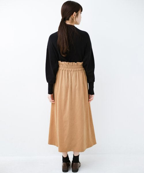 haco!(ハコ)/楽ちんなのにきれい見せが叶う ボタンがポイントの大人スカート/482274_img09