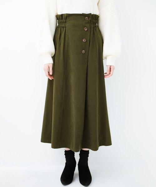 haco!(ハコ)/楽ちんなのにきれい見せが叶う ボタンがポイントの大人スカート/482274_img10