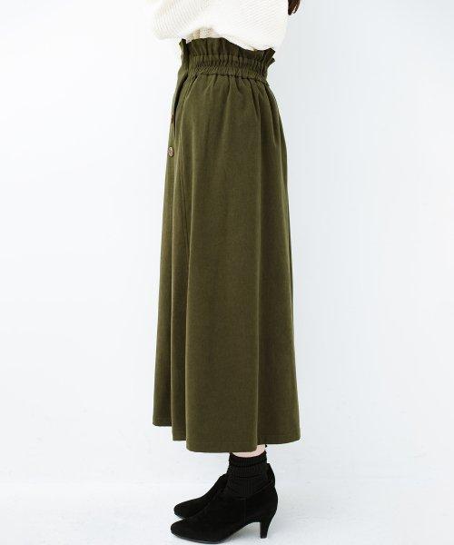 haco!(ハコ)/楽ちんなのにきれい見せが叶う ボタンがポイントの大人スカート/482274_img11