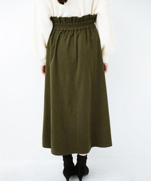haco!(ハコ)/楽ちんなのにきれい見せが叶う ボタンがポイントの大人スカート/482274_img12