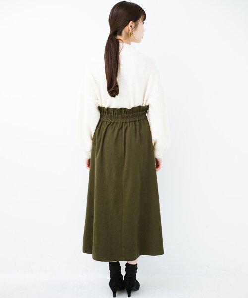 haco!(ハコ)/楽ちんなのにきれい見せが叶う ボタンがポイントの大人スカート/482274_img15