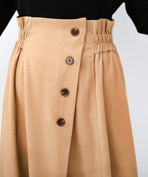 haco!(ハコ)/楽ちんなのにきれい見せが叶う ボタンがポイントの大人スカート/482274_img16