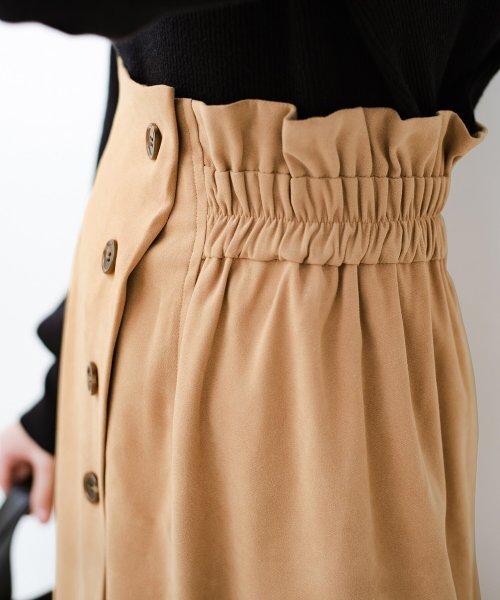 haco!(ハコ)/楽ちんなのにきれい見せが叶う ボタンがポイントの大人スカート/482274_img17