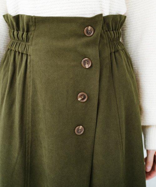 haco!(ハコ)/楽ちんなのにきれい見せが叶う ボタンがポイントの大人スカート/482274_img18