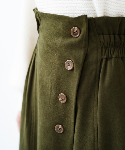 haco!(ハコ)/楽ちんなのにきれい見せが叶う ボタンがポイントの大人スカート/482274_img19