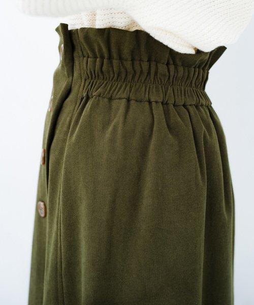 haco!(ハコ)/楽ちんなのにきれい見せが叶う ボタンがポイントの大人スカート/482274_img20