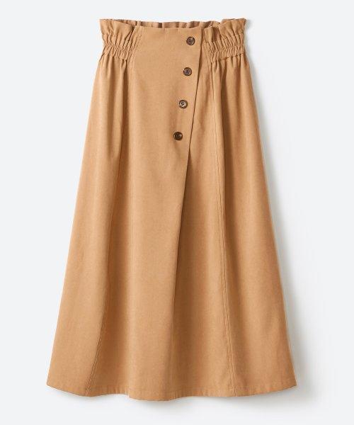 haco!(ハコ)/楽ちんなのにきれい見せが叶う ボタンがポイントの大人スカート/482274_img23