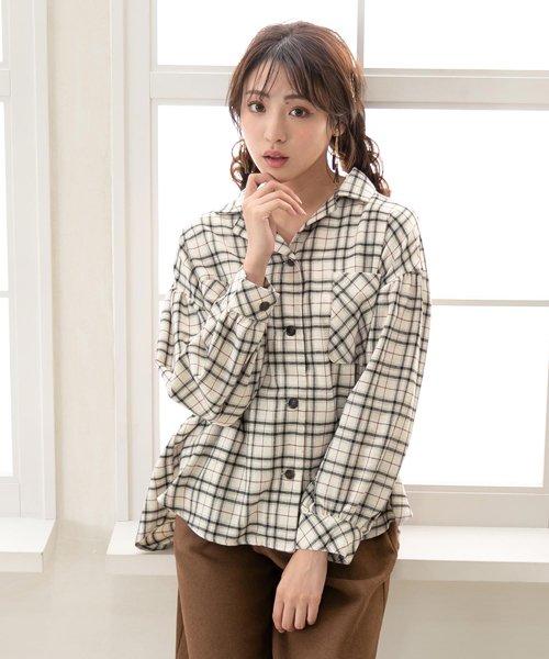 YUMETENBOU(夢展望)/チェック開襟ボリュームシャツ/528512_img06