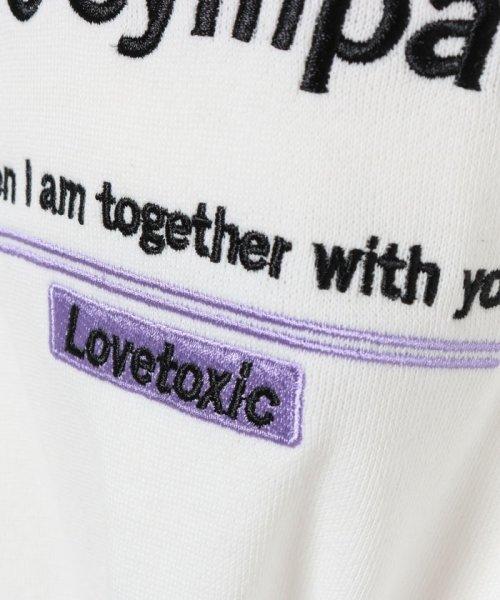 Lovetoxic(ラブトキシック)/裏毛 ロゴリブパーカー/8393259_img04