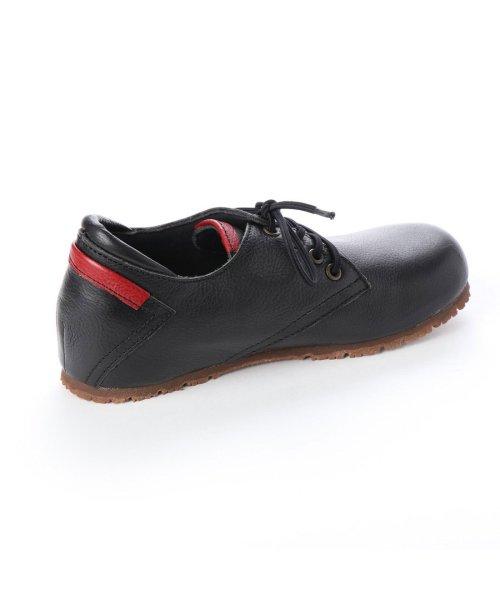 yuriko matsumoto(ユリコ マツモト)/ユリコ マツモト yuriko matsumoto マニッシュ シンプル コンフォート 本革 日本製 ゴムヒモ靴 (BL])/YU4966BW00280_img02