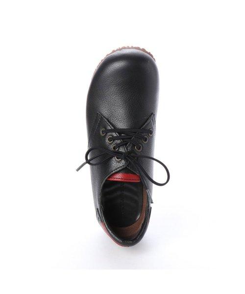 yuriko matsumoto(ユリコ マツモト)/ユリコ マツモト yuriko matsumoto マニッシュ シンプル コンフォート 本革 日本製 ゴムヒモ靴 (BL])/YU4966BW00280_img03