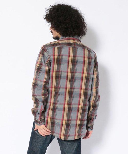Schott(ショット)/【直営店限定】VINTAGE NEL PLAID OPEN COLLAR SHIRT/ヴィンテージ オープンカラーネルシャツ/3195044-30_img02