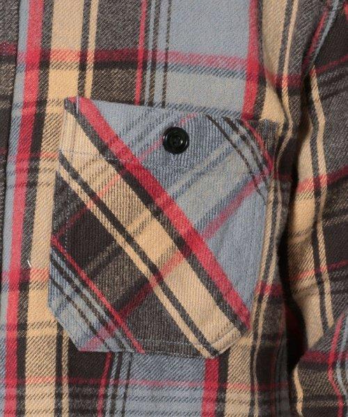 Schott(ショット)/【直営店限定】VINTAGE NEL PLAID OPEN COLLAR SHIRT/ヴィンテージ オープンカラーネルシャツ/3195044-30_img04