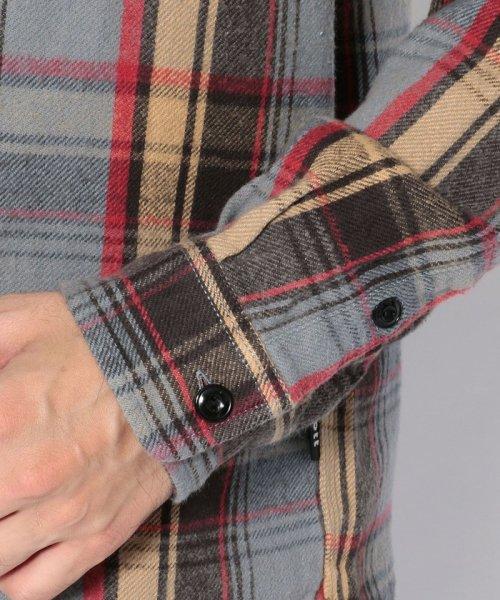 Schott(ショット)/【直営店限定】VINTAGE NEL PLAID OPEN COLLAR SHIRT/ヴィンテージ オープンカラーネルシャツ/3195044-30_img05