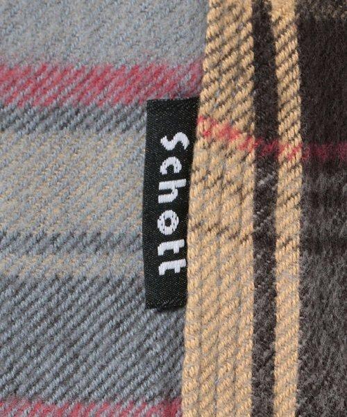 Schott(ショット)/【直営店限定】VINTAGE NEL PLAID OPEN COLLAR SHIRT/ヴィンテージ オープンカラーネルシャツ/3195044-30_img07