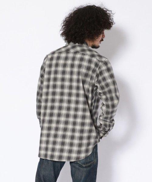 Schott(ショット)/【直営店限定】MONO TONE PLAID SHIRT/モノトーン プレイドシャツ/3195046-30_img02