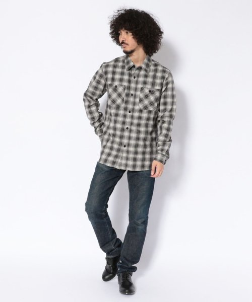 Schott(ショット)/【直営店限定】MONO TONE PLAID SHIRT/モノトーン プレイドシャツ/3195046-30_img08