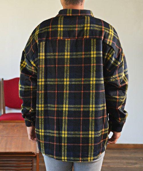 LUXSTYLE(ラグスタイル)/ビッグシルエットネルシャツ/シャツ メンズ 長袖 ネルシャツ ビッグシルエット/pm-8883_img01